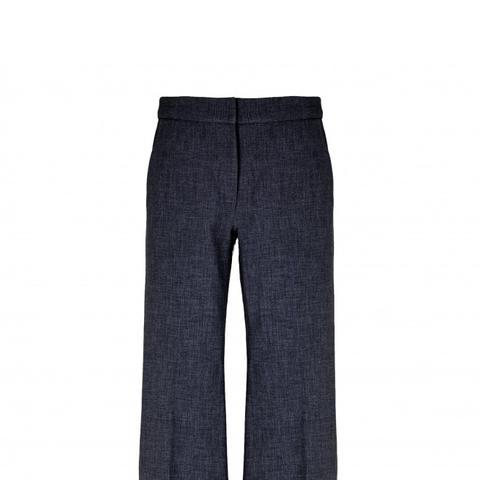 Tropical Wool Flared Pants