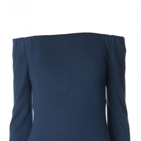 Wool Jersey Off-the-Shoulder Top