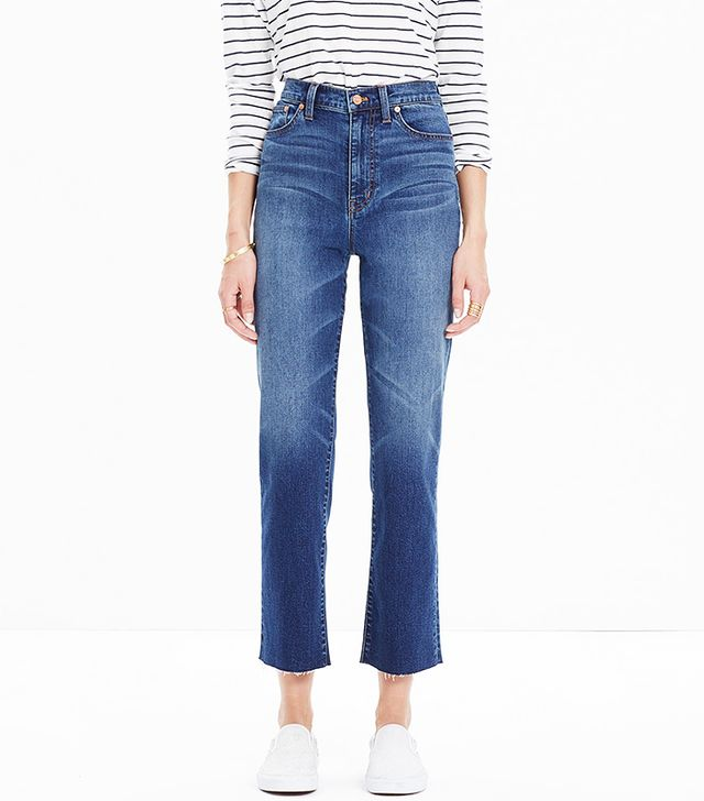 Madewell High Riser Cropped Flares