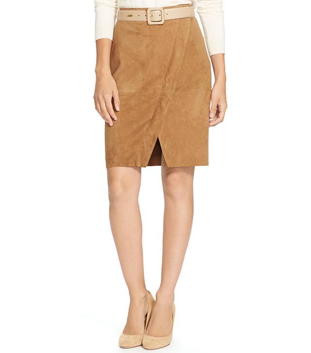 Ralph Lauren Suede Pencil Skirt