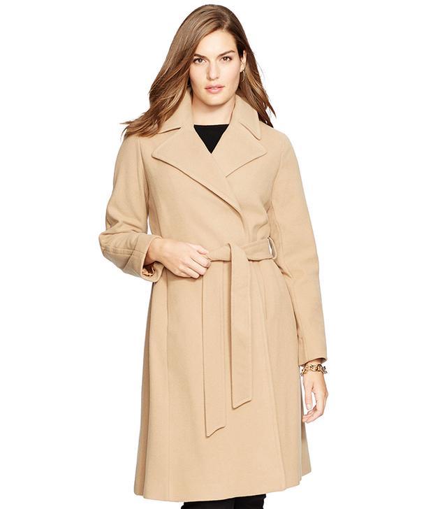Ralph Lauren Wool-Blend Wrap Coat