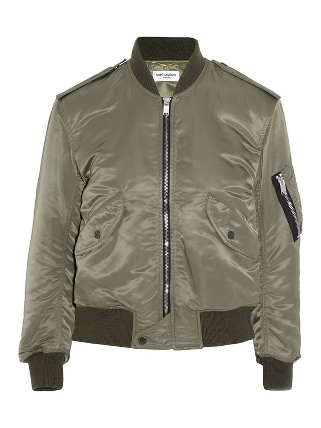Saint Laurent Shell Bomber Jacket