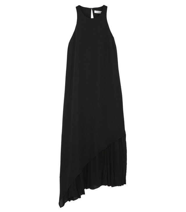Elizabeth and James Laeticia Asymmetric Crepe de Chine Dress