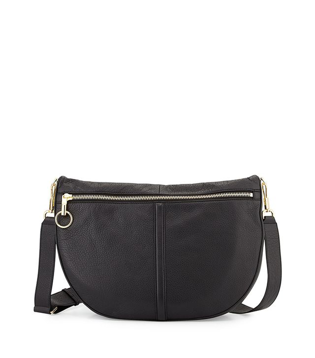 Elizabeth and James Scott Leather Half-Moon Shoulder Bag