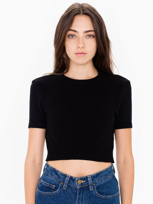 American Apparel Knitted Classic Crop Top