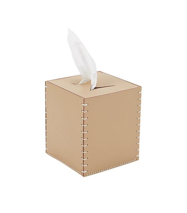 Arte & Cuoio Leather Boutique Tissue Box Cover