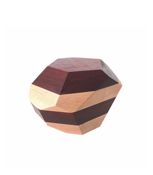 Haley Ann Orange Stacked Wood Geo
