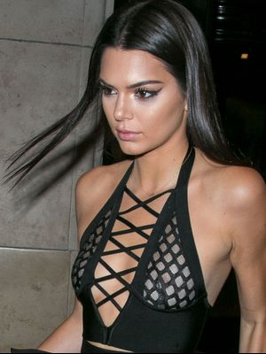 Kendall Jenner Just Wore Completely Sheer Balmain Pants in Paris