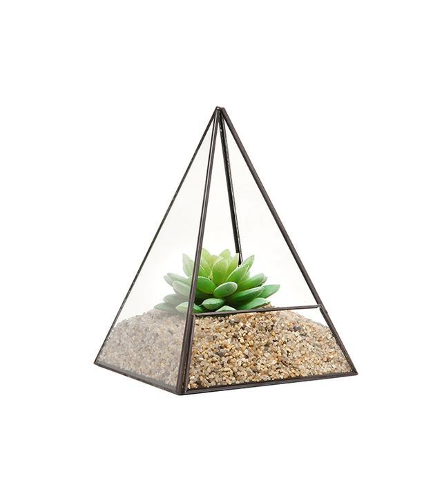 MyGift Modern Glass Pyramid Succulent Terrarium
