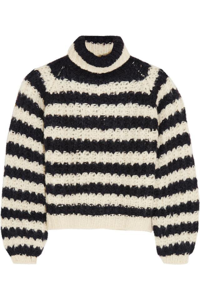 Chloé Striped Silk-Blend Sweater