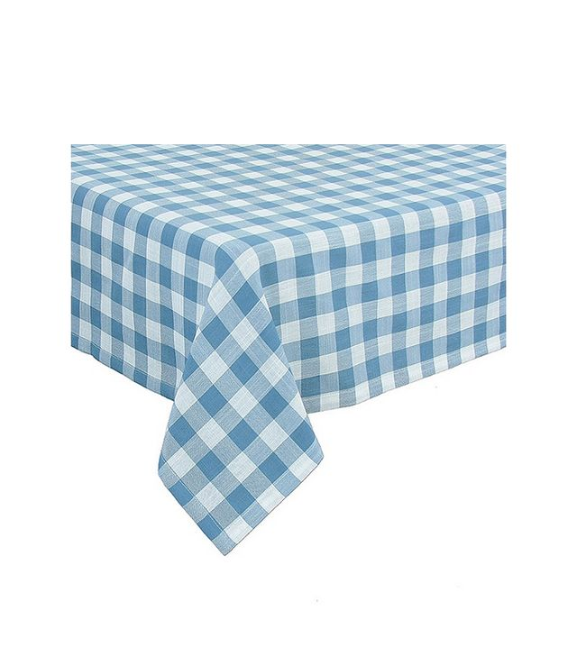 Intrepid International Gingham Checkered Tablecloth, Blue