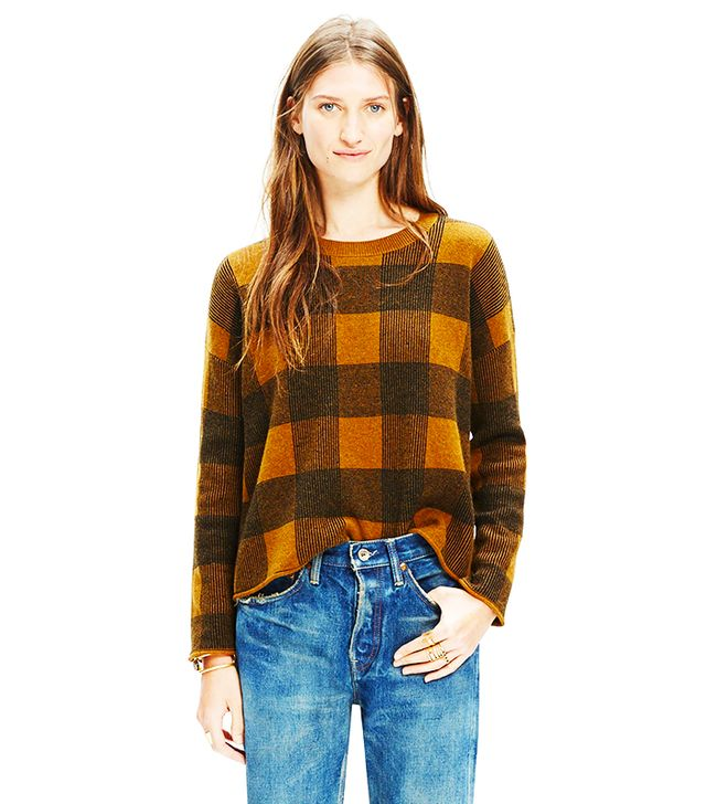 Madewell Inkcheck Plaid Sweater