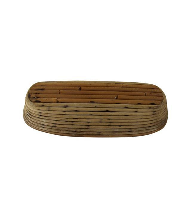 One Kings Lane Vintage French Oval Rattan Bread Basket