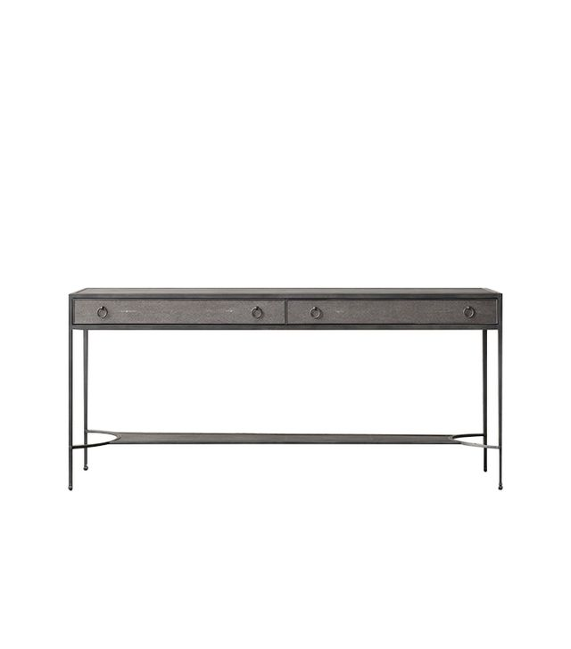 Restoration Hardware Villette Shagreen Console Table