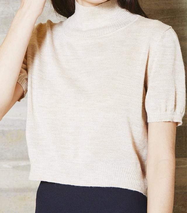 Rachel Comey Fine Gauge Cropped Knit Tee