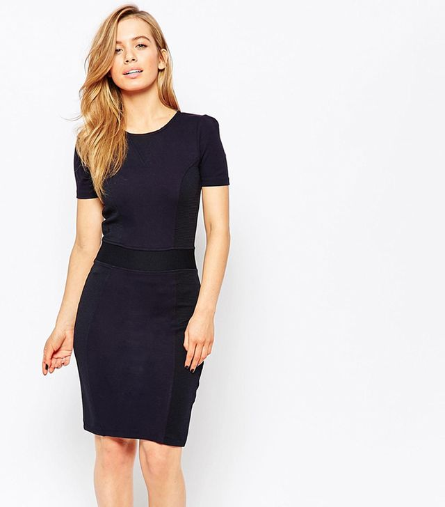 French Connection Manhattan Textured Panel Dress