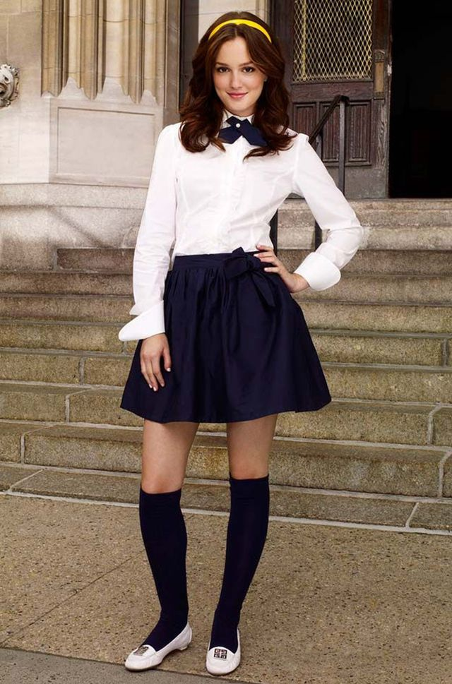 Blair Waldorf  My fellow Gossip Girl lovers… this one's for you. Give the naughty schoolgirl costume a break, because Miss Waldorf is all class. All you need is a bow-tie blouse, a...