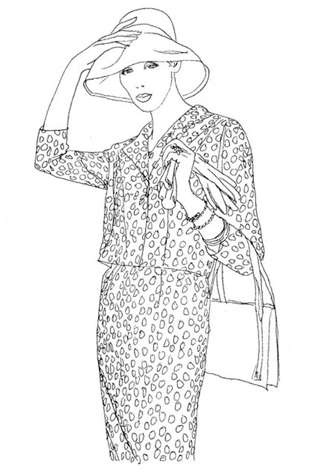 Coloring Book For Fashion : Vogue wants you to start coloring again whowhatwear