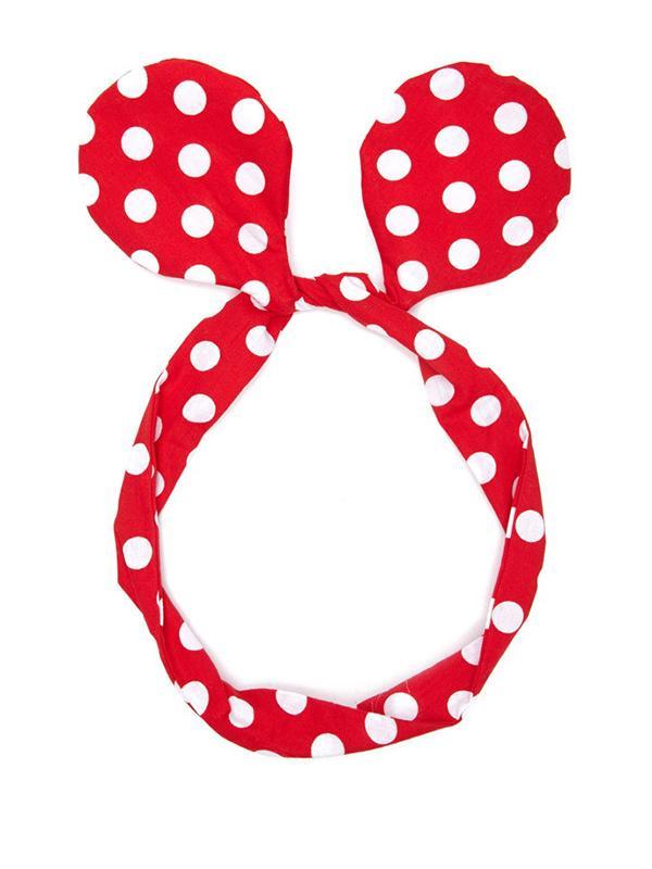 Forever 21 Polka Dot Bow Headwrap