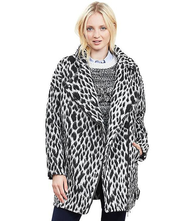 Banana Republic Spotted Cocoon Coat