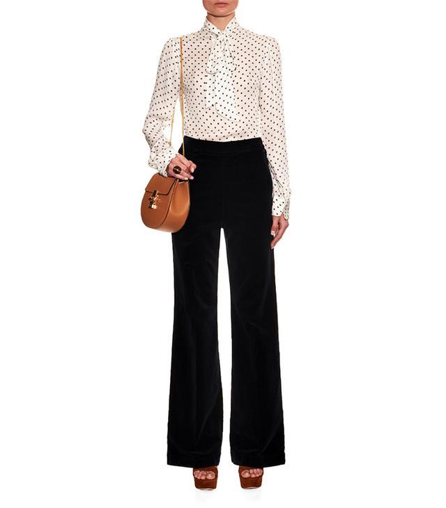 Alexa Chung for AG Laura High-Rise Corduroy Trousers