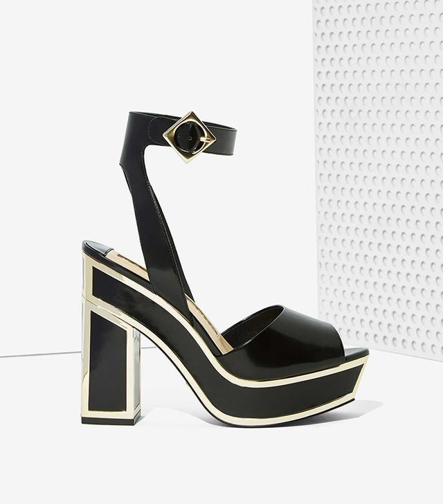 Nasty Gal x Kat Maconie Sabrina Leather Platforms