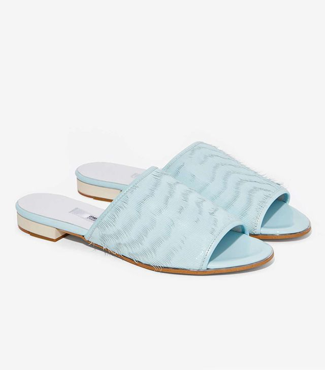 Miista Anamaria Patent Leather Slide Sandals
