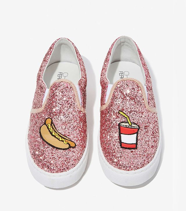 Chiara Ferrargni Glitter Pop 'n Dog Slip-On Sneakers