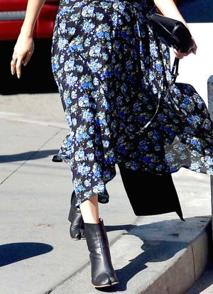 How to Toughen Up Your Floral-Print Dress for Fall