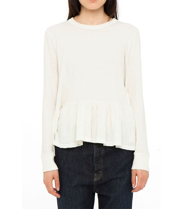 The Great Long Sleeve Ruffle Tee