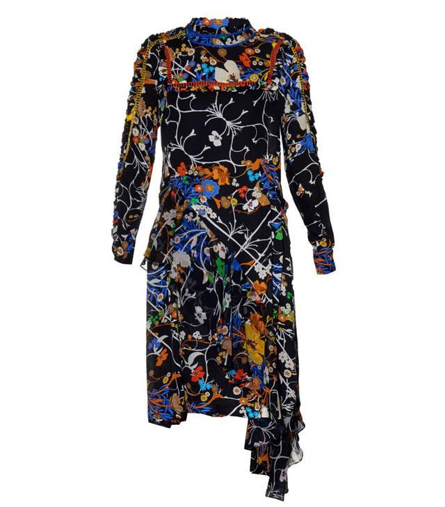 Preen Brigite Floral-Print Silk Dress