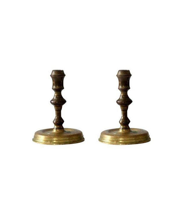 Chairish Vintage Brass Candlesticks