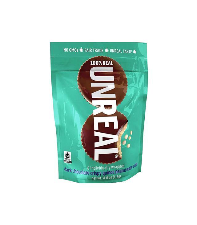 Unreal Dark Chocolate Crispy Quinoa Peanut Butter Cups