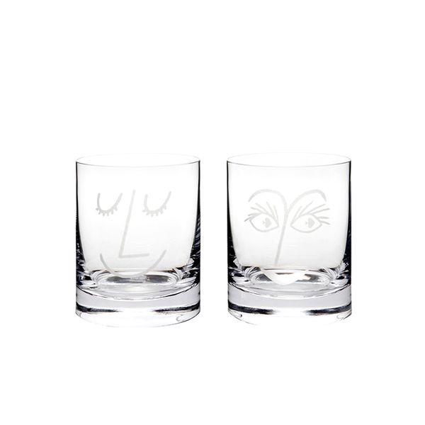 Kate Spade New York Two of a Kind Glass Set