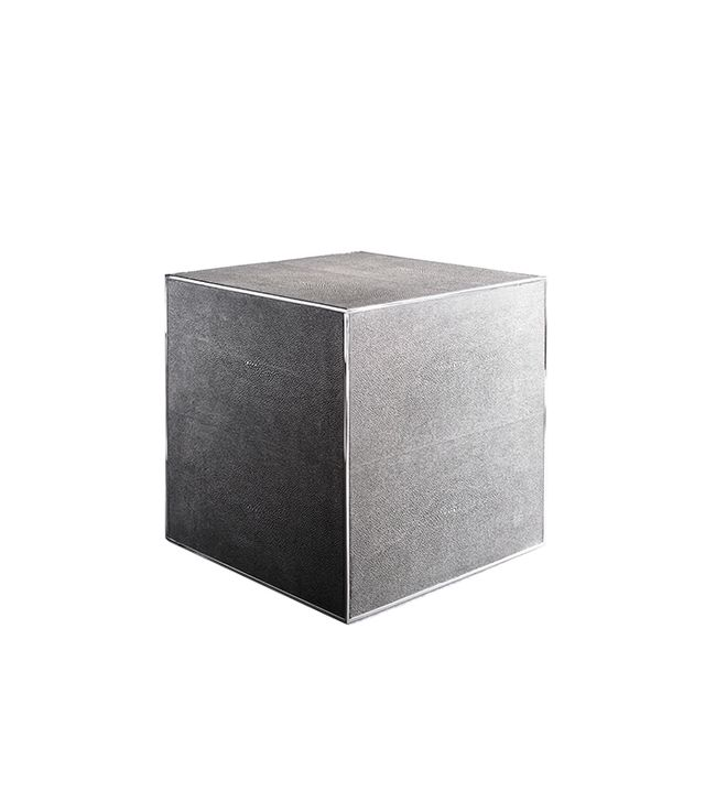 RH Modern Shagreen Cube Side Table