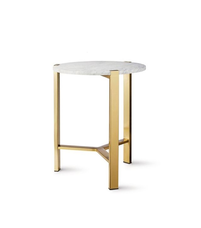 Nate Berkus Round Gold Accent Table With Marble Top