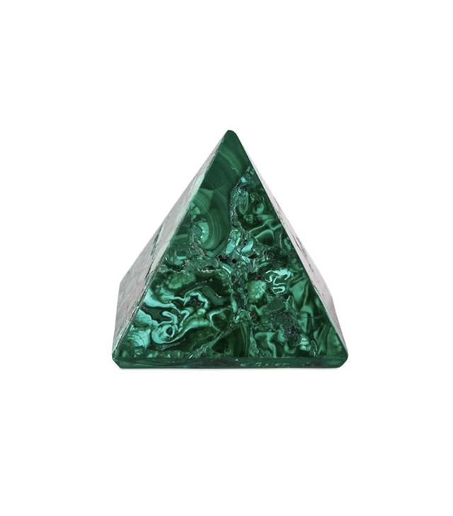 Mapleton Drive Medium Malachite Pyramid