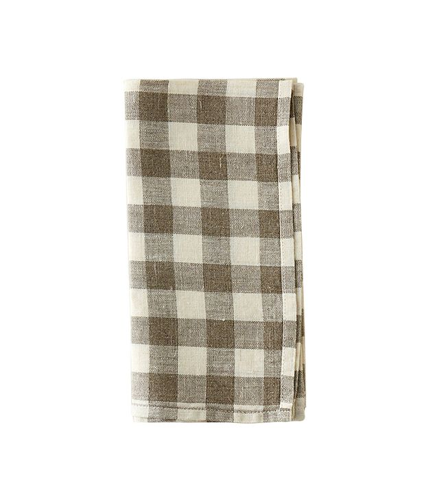 Terrain Lithuanian Linen Check Napkin