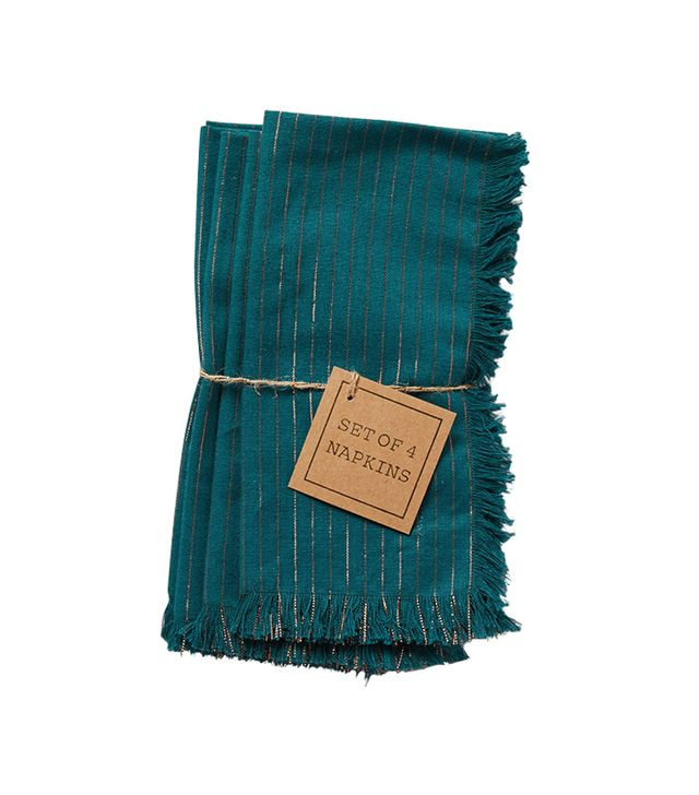 Anthropologie Shining Pinstripe Napkins