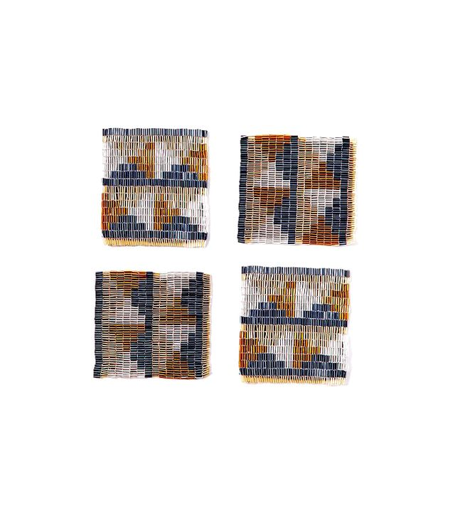 West Elm Triangle Beaded Coasters