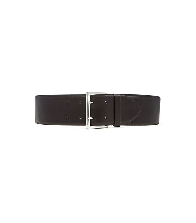 Linea Pelle Double Prong Feathered Waist Belt