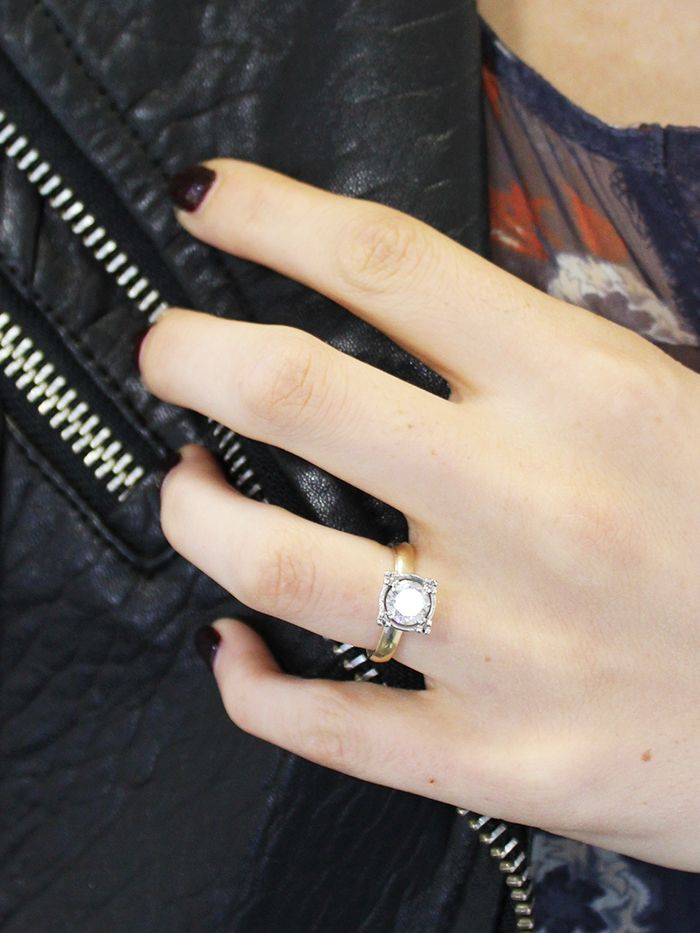 7 Real Girls With the Prettiest Engagement Rings | Who What Wear
