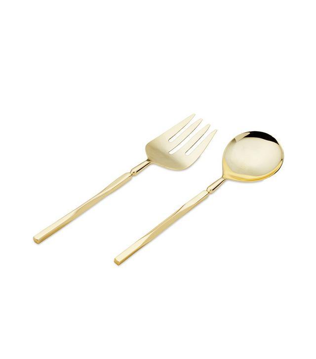 Cunill Beveled Shiny Gold Serving Set