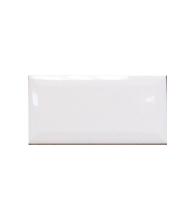 U.S. Ceramic Tile Bright Glazed Snow White Ceramic Beveled Edge Wall Tile