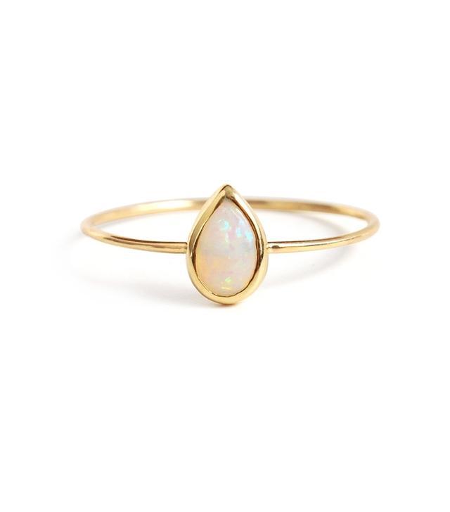 Catbird Jewelry Teardrop Opal Ring