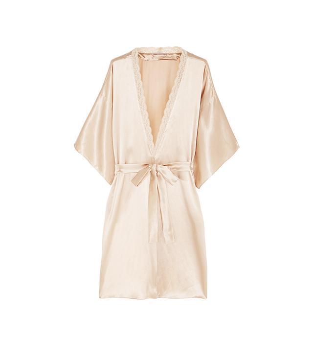 Stella McCartney Clara Whispering Lace-Trimmed Silk Robe