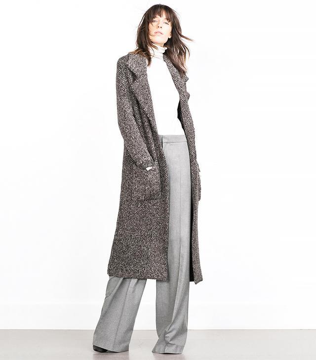 Zara Coat With Large Lapels