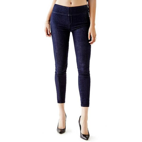 GUESS Midrise Push-Up Jeggings with Silicone Rinse