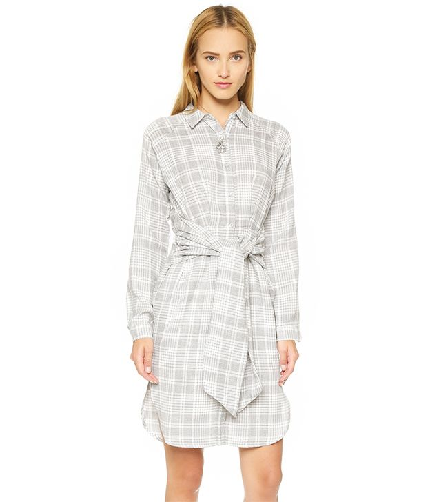 J.O.A. Plaid Tie Front Dress