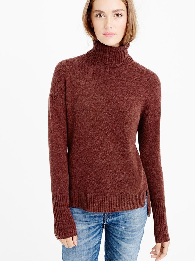 J.Crew Relaxed Wool Turtleneck Sweater